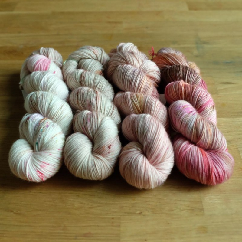 00 Autumn Fade Set - Merino Sock (4 skeins set)