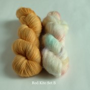 09 Red  Kite B - Knitting Brioche Lace Set