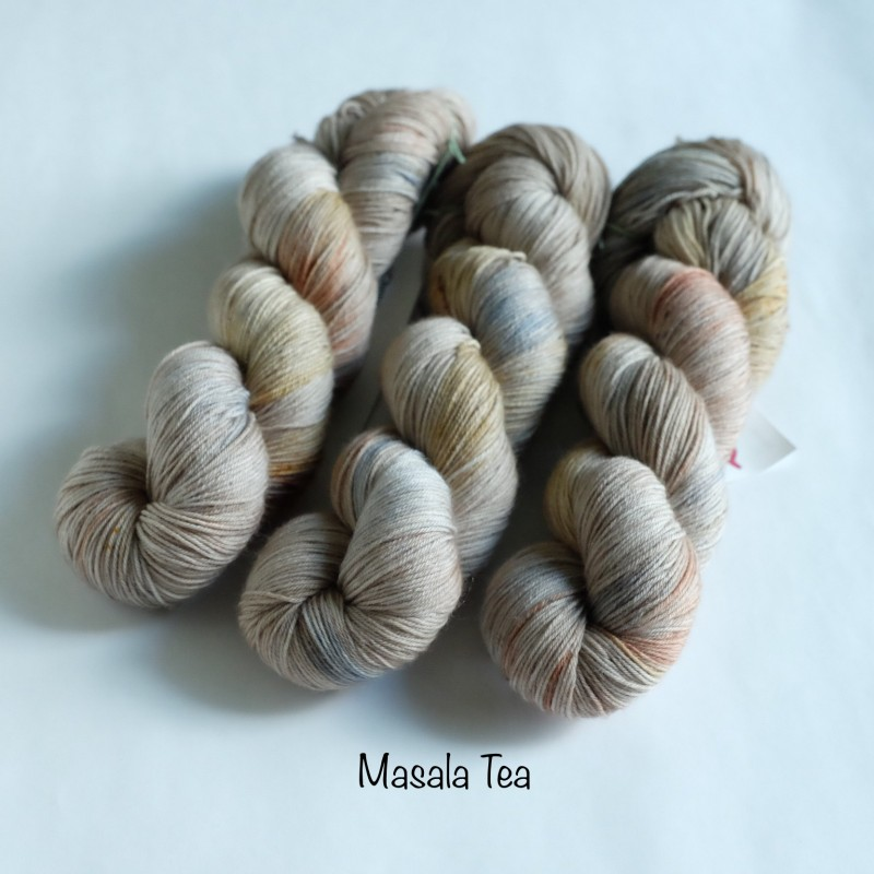 00 Masala Tea - Merino Sock (4 skeins set)